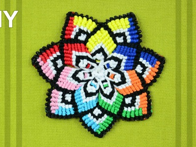 Colorful Mandala Flower in Macramé. DIY Tutorial