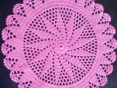 Como Hacer Un Tapete O Carpeta a Crochet en Español (2 parte)