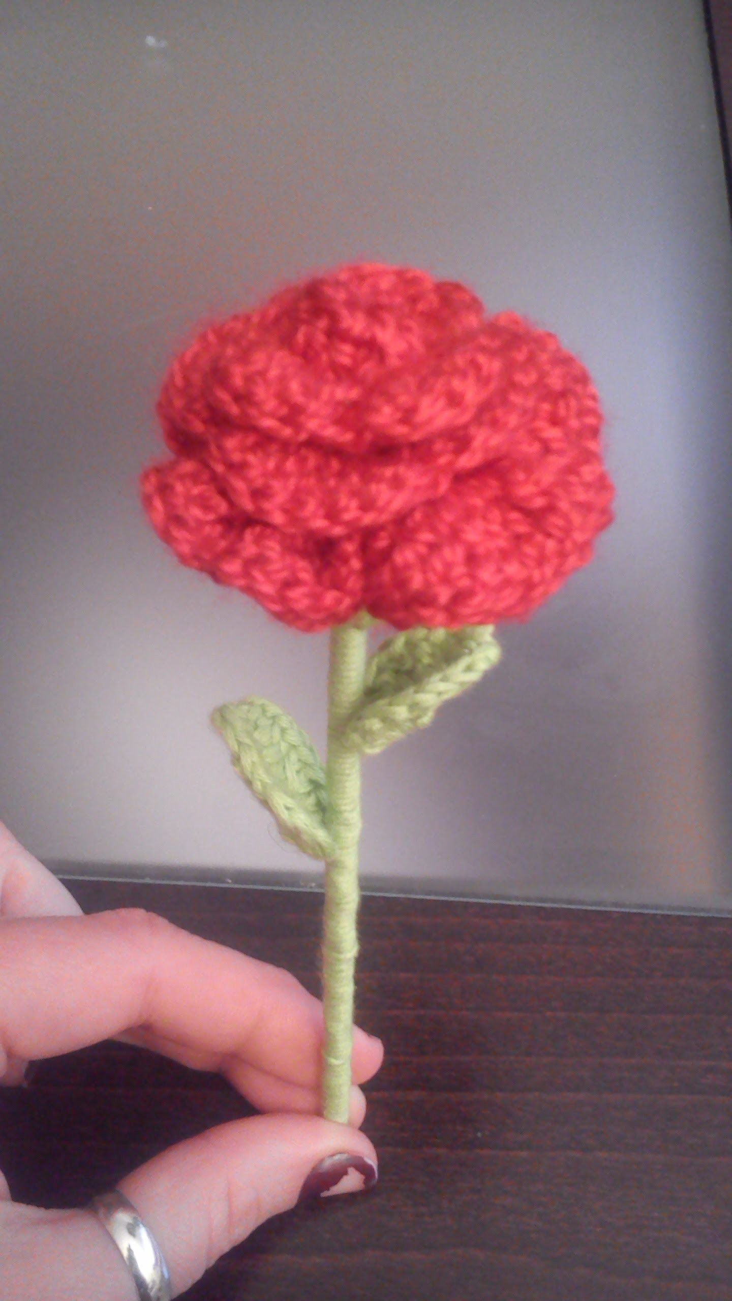 Como hacer una Mini rosa paso a paso a crochet o ganchillo en español