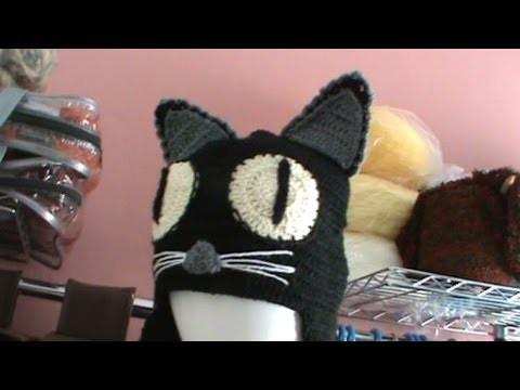 Como tejer gorro diseño gato ganchillo crochet parte 1