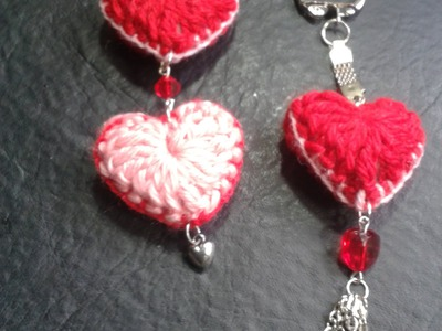 Como tejer un corazon al crochet para hacer un llavero. Tejemos?!