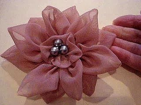 COUTURE FLOWER, How to diy, 12 petal flower, fabric flower, accessories,  brooch, headband, barrette