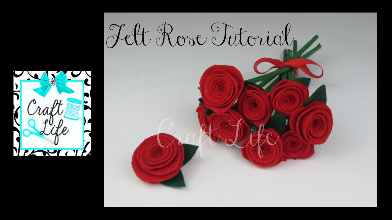 Craft Life Easy DIY Felt Rose Tutorial