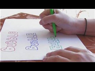 Craft Projects for Kids : How to Write Bubble Letters
