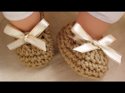 Craft Show Crochet Baby Booties - 3 to 6 mths old