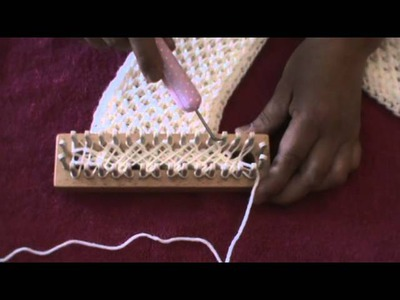 CRISS CROSS STITCH (Loom Knitting)