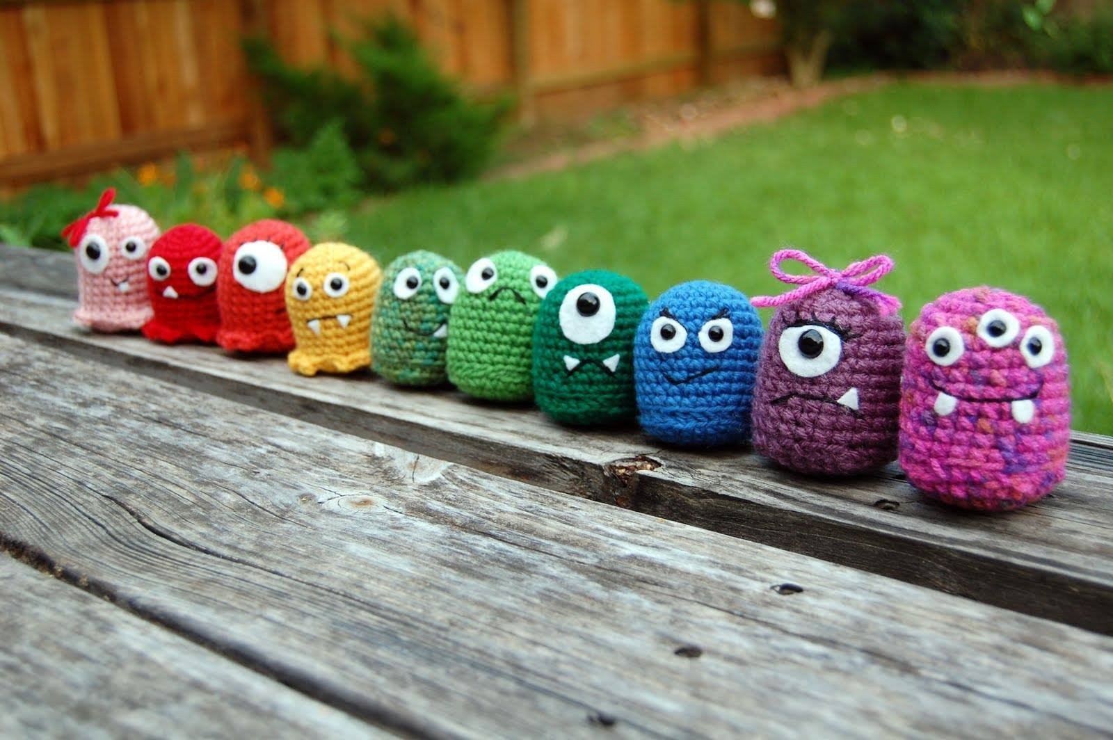 Crochet Amigurumi Baby Monsters with CraftyisCool. Magic Ring tutorial