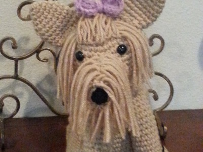 Crochet Amigurumi Yorkie Dog part 1 DIY tutorial