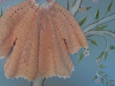 Crochet baby ripple sweater - video two