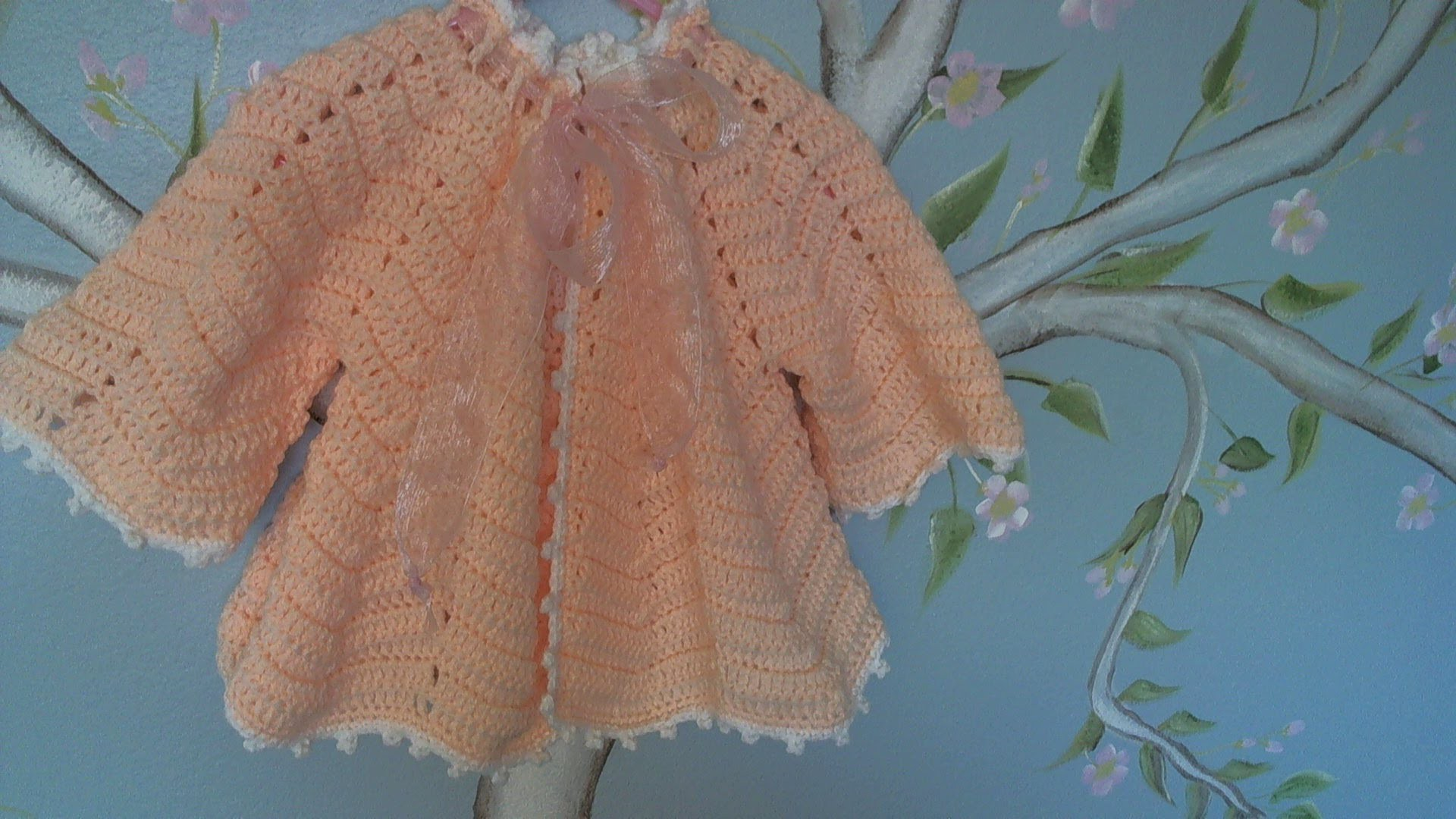 Crochet baby ripple sweater - video two
