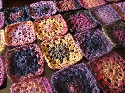 Crochet Bumble Berry Pie Granny Squares