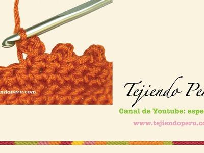 Crochet: cómo tejer el punto picot o piquito cerrado