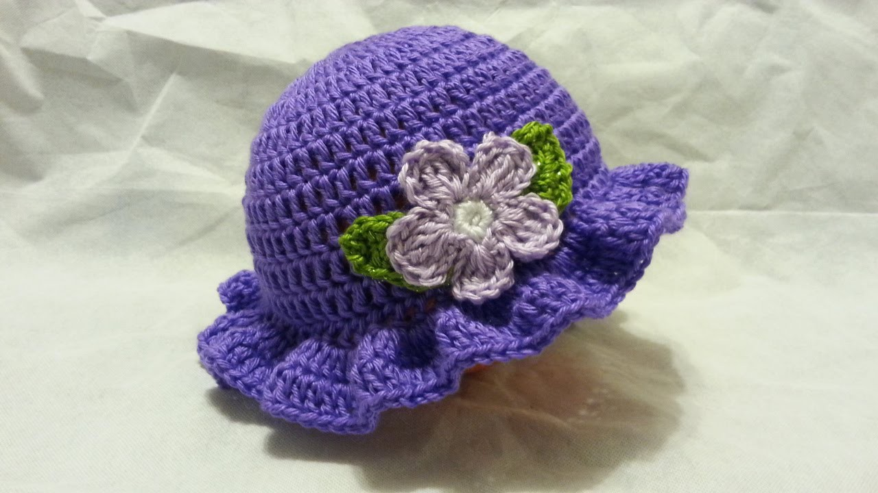 #Crochet Easy Ladies Spring time Hat #TUTORIAL HD #freecrochet