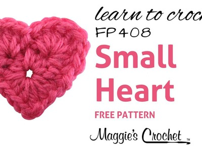Crochet Easy Small Heart How To - Right Handed