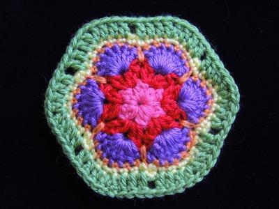 Crochet : Flor Africana 1