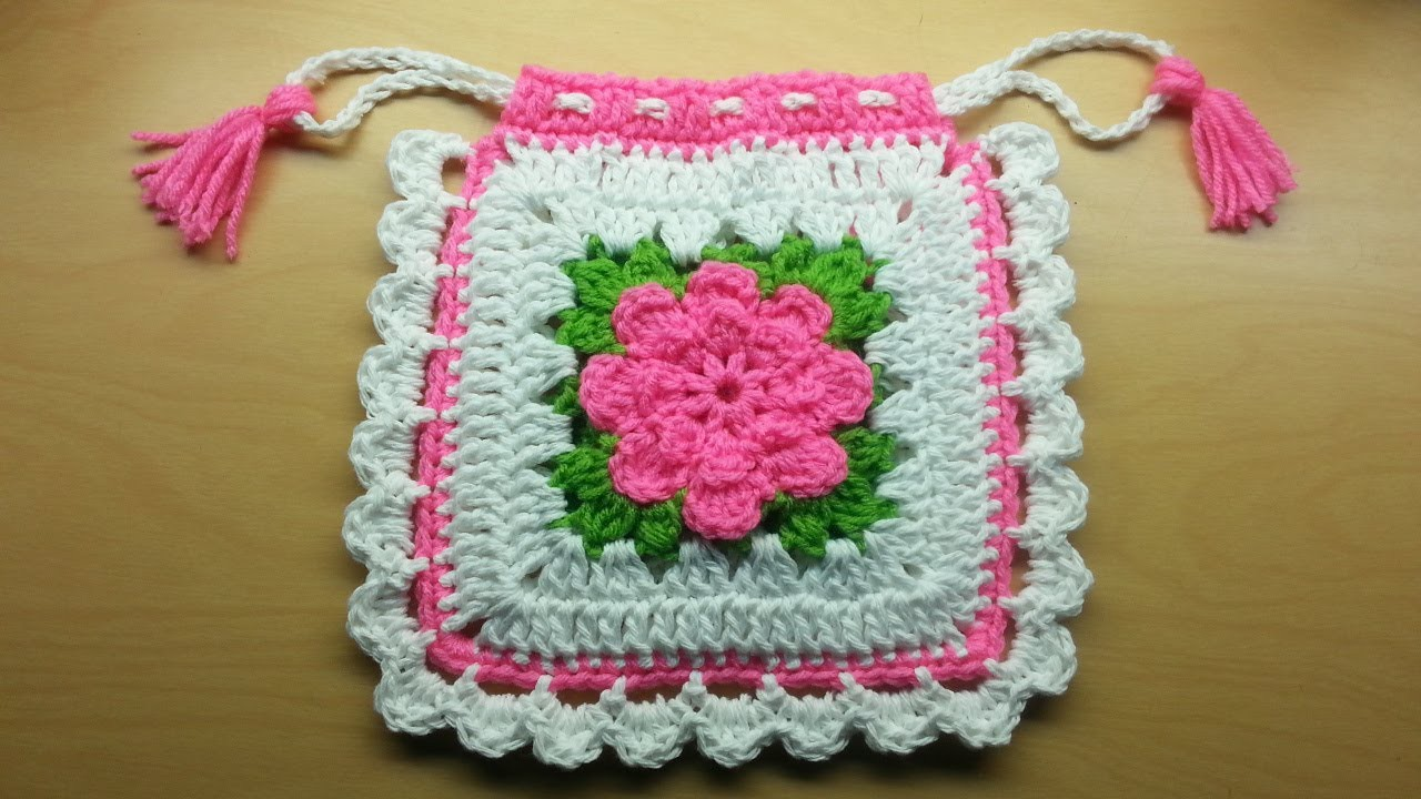 #Crochet granny square #handbag #purse #TUTORIAL #grannysquare #handmade