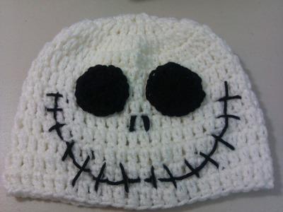 Crochet Halloween Jack Skellington hat