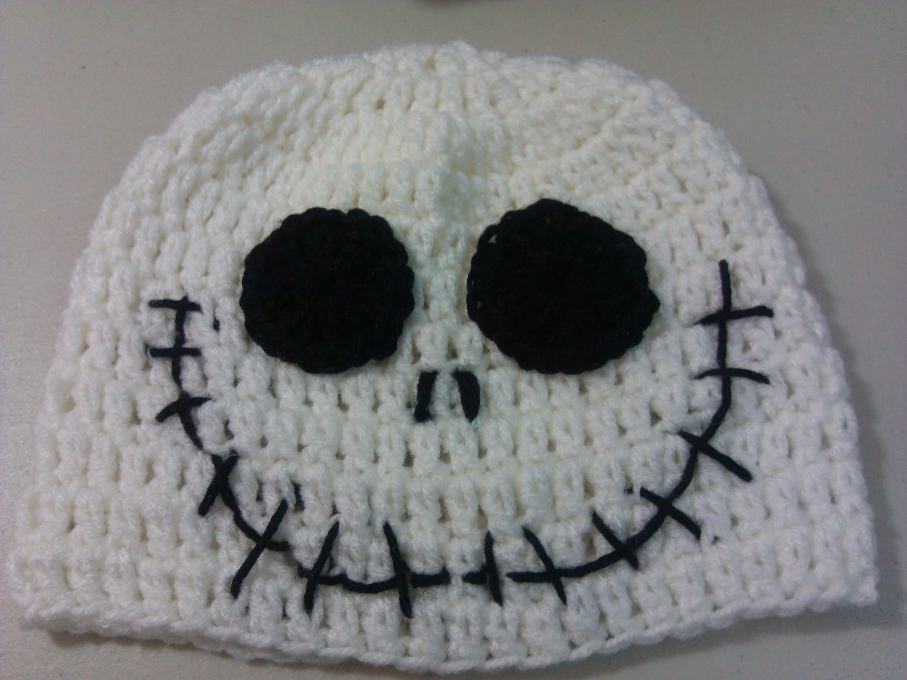 Crochet Halloween Jack Skellington hat