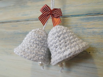 (crochet) How To - Crochet a Christmas Bell Decoration