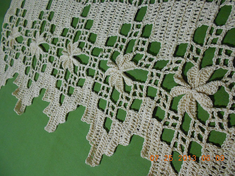 Crochet orilla de picos en flor 1 de 4