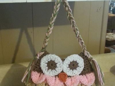 #Crochet Owl Bag Purse #TUTORIAL Adorable affordable handbags