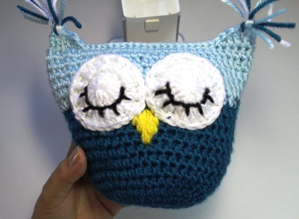 #Crochet owl pillow - subtitulos en Espanol