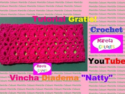 "Crochet Tutorial Vincha Bebe Diadema ""Natty""  (Parte 1) por Maricita Colours"