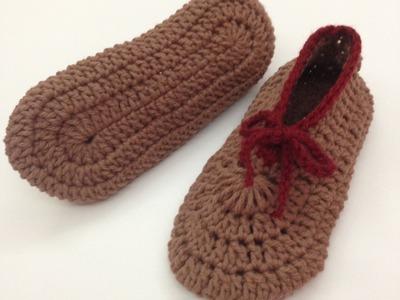 طريقة قياس وعمل سليبر نسائي كورشيه Crochet Slippers