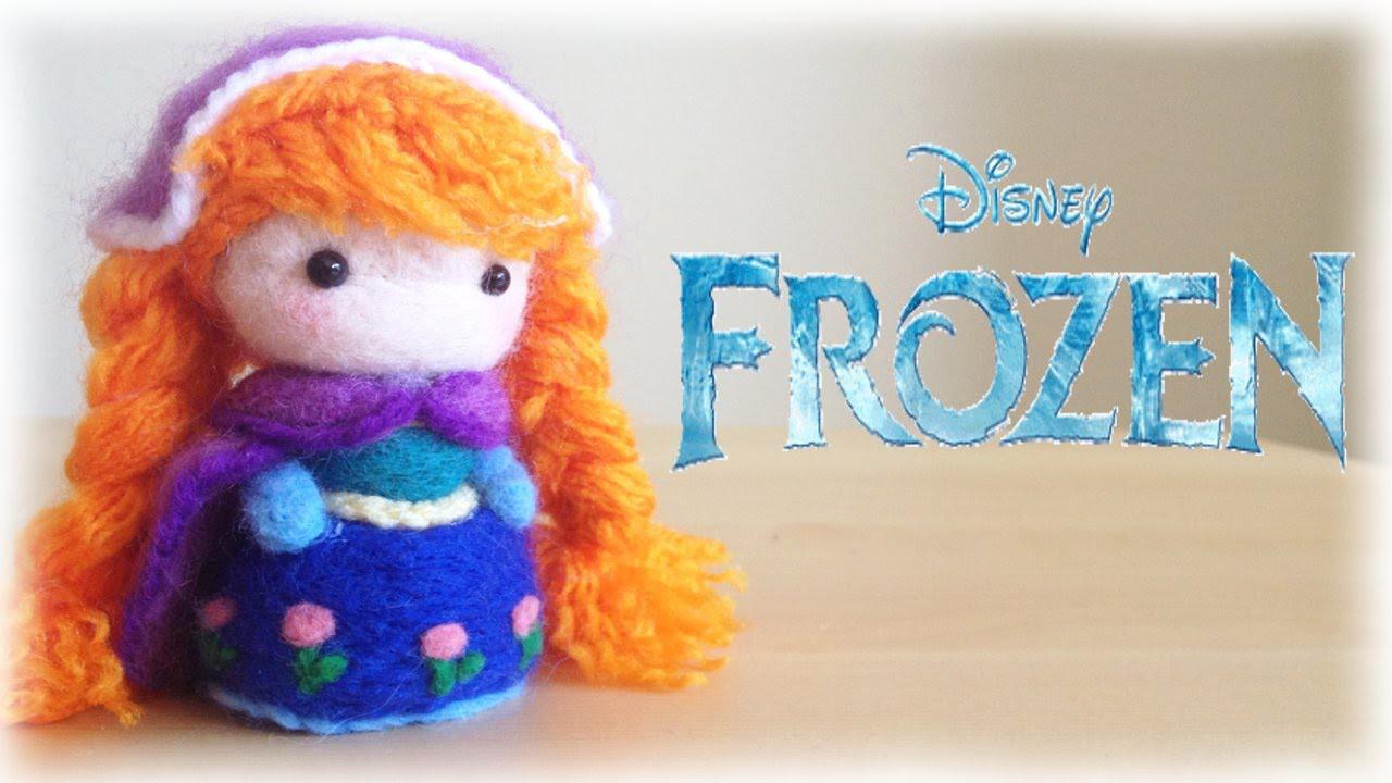 Disney Frozen Anna Plushie Needle felt Tutorial DIY