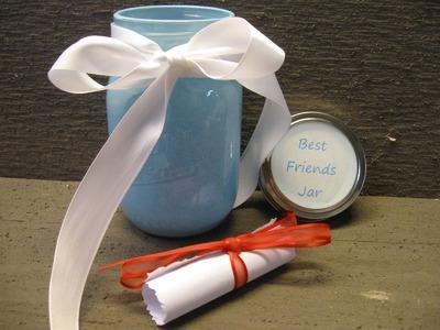 DIY Best Friends Jar Craft Tutorial Friendship