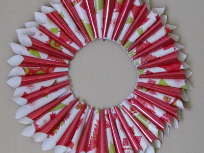 DIY Christmas Wreath Holiday Gift Wrap Wreath Arts & Craft #7