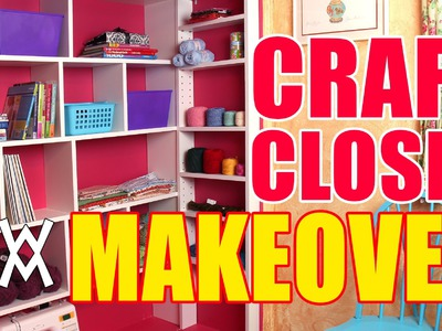 DIY Craft Closet Organizer and Shelving System