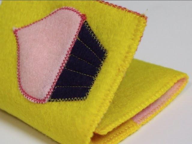 DIY Felt Wallet by Crafty Gemini, ThreadBanger How-to