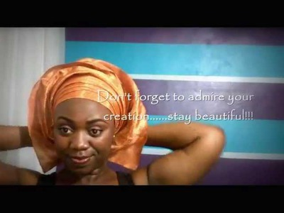 DIY Gele Tutorial: Tie Aso-Oke Gele - Layers Technique