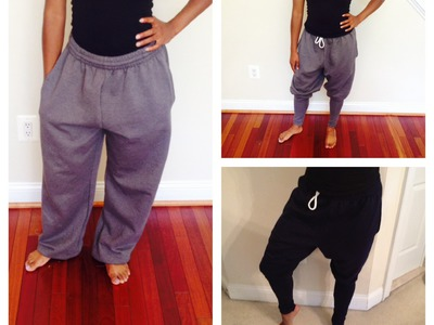 DIY | Harem Sweatpants Tutorial