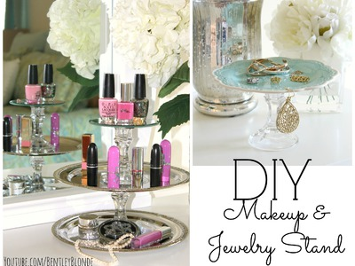 DIY Jewelry Stand & Lipstick Holder! ❤ Dollar Store Crafts