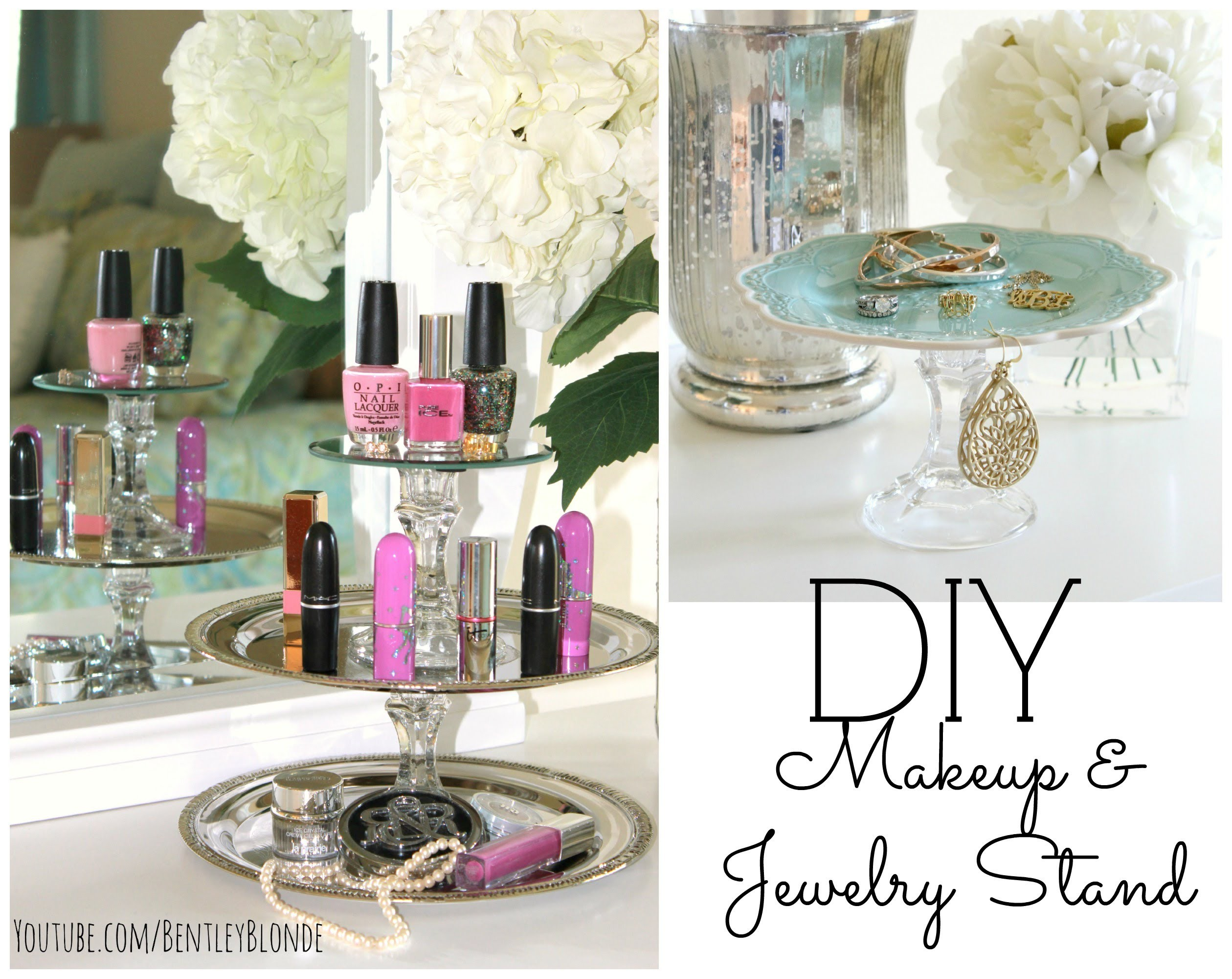 DIY Jewelry Stand & Lipstick Holder! ❤ Dollar Store Crafts