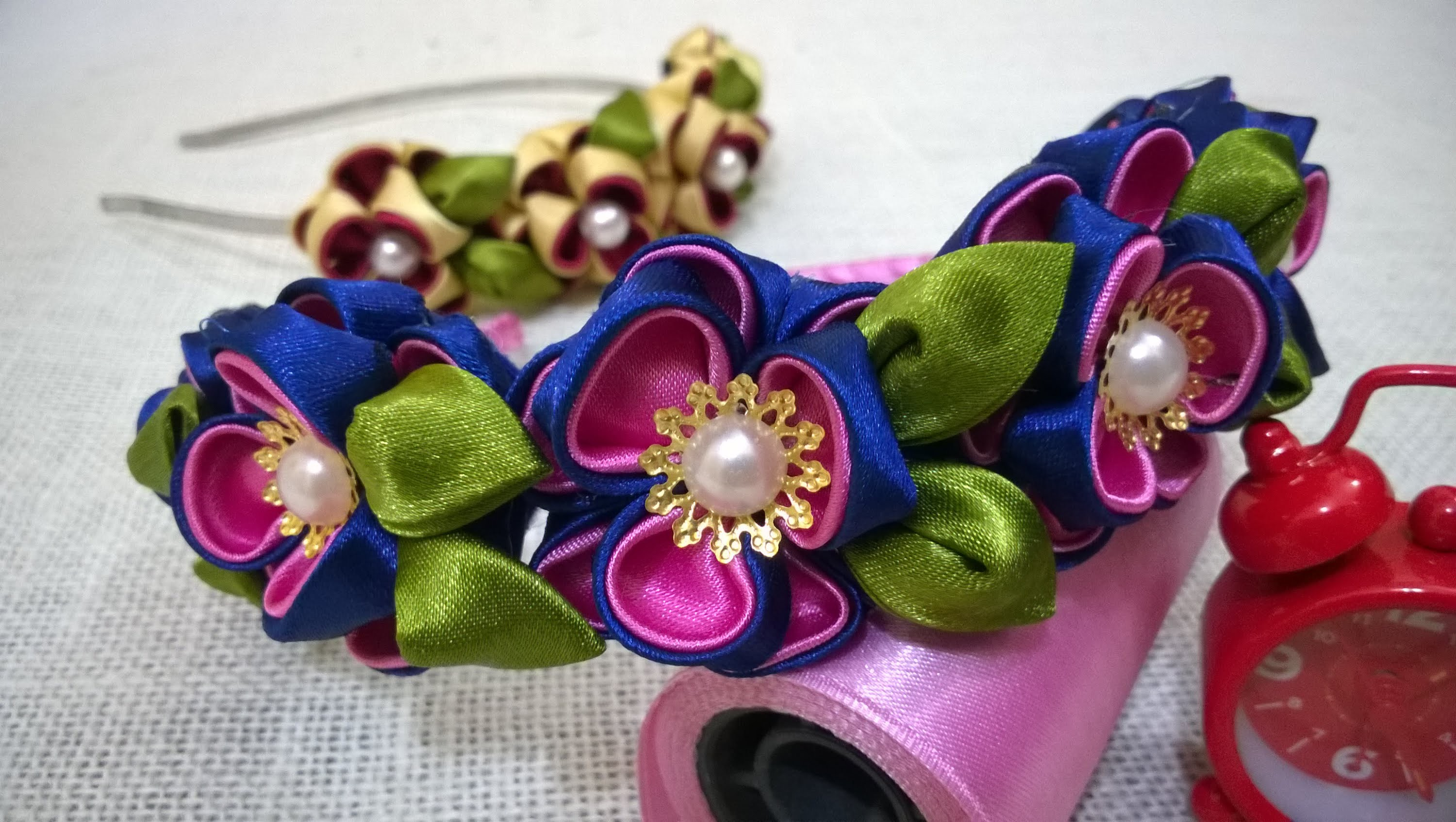 D.I.Y. Kanzashi Flower Headband Tutorial