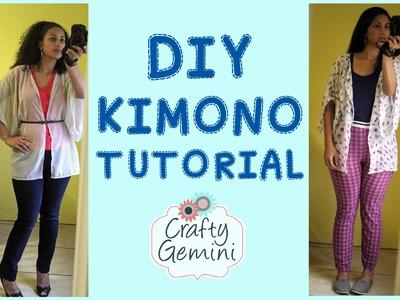 DIY Kimono Tutorial - Sewing Chiffon