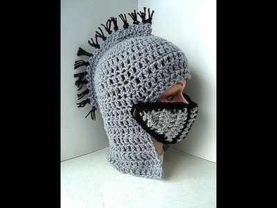 DIY knight's helmet hat free crochet pattern, King Arthur's Court, VIKING HAT, Gladiator