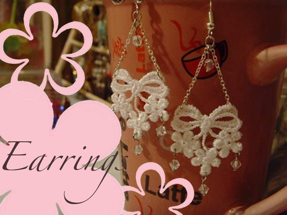 DIY: MeiIris' Lovely Lace Earrings Tutorial