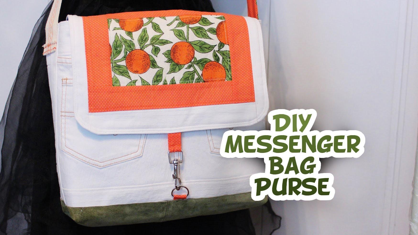DIY Messenger Style Purse Tutorial - Whitney Sews