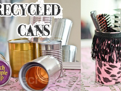 DIY: Recycled Tin Can Craft [Mixed Media] | thecreativelady