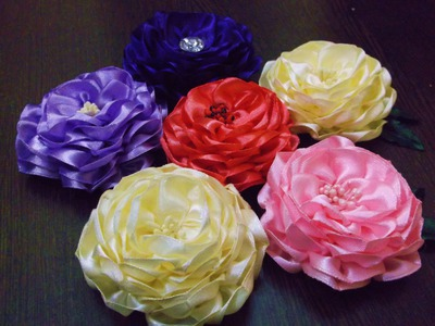 D.I.Y. Satin Ribbon Camellia Flower - Tutorial