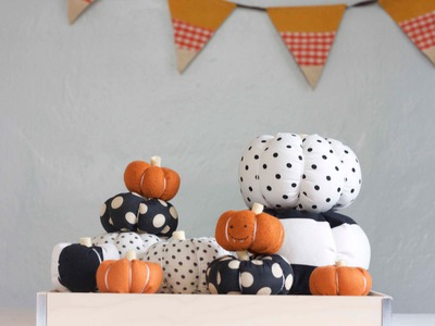 DIY Stuffed Fabric Pumpkin Tutorial