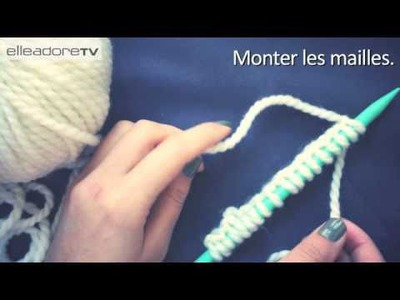 DIY : tricoter une écharpe. How to knit a scarf ?