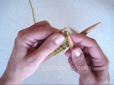 DROPS Knitting Tutorial: How to make a magic cast on for toe up socks, mittens etc