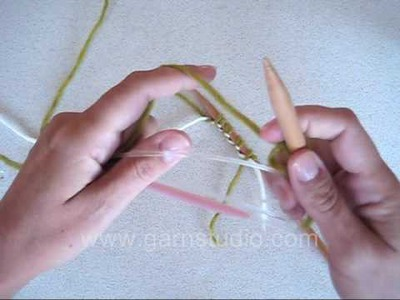 DROPS Knitting Tutorial: How to make a provisional cast on with waste yarn or circular needle