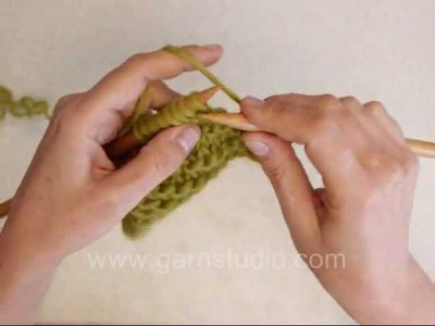 DROPS Knitting Tutorial: How to beginner knitter, cast on, knit, bind off