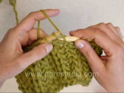 DROPS Knitting Tutorial: How to knit fishermans rib with only sts